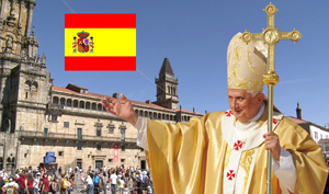 Le pape à Compostelle